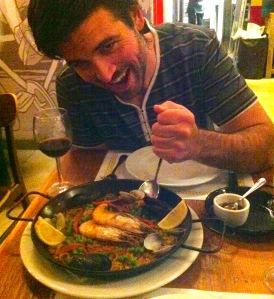 Logan with Paella