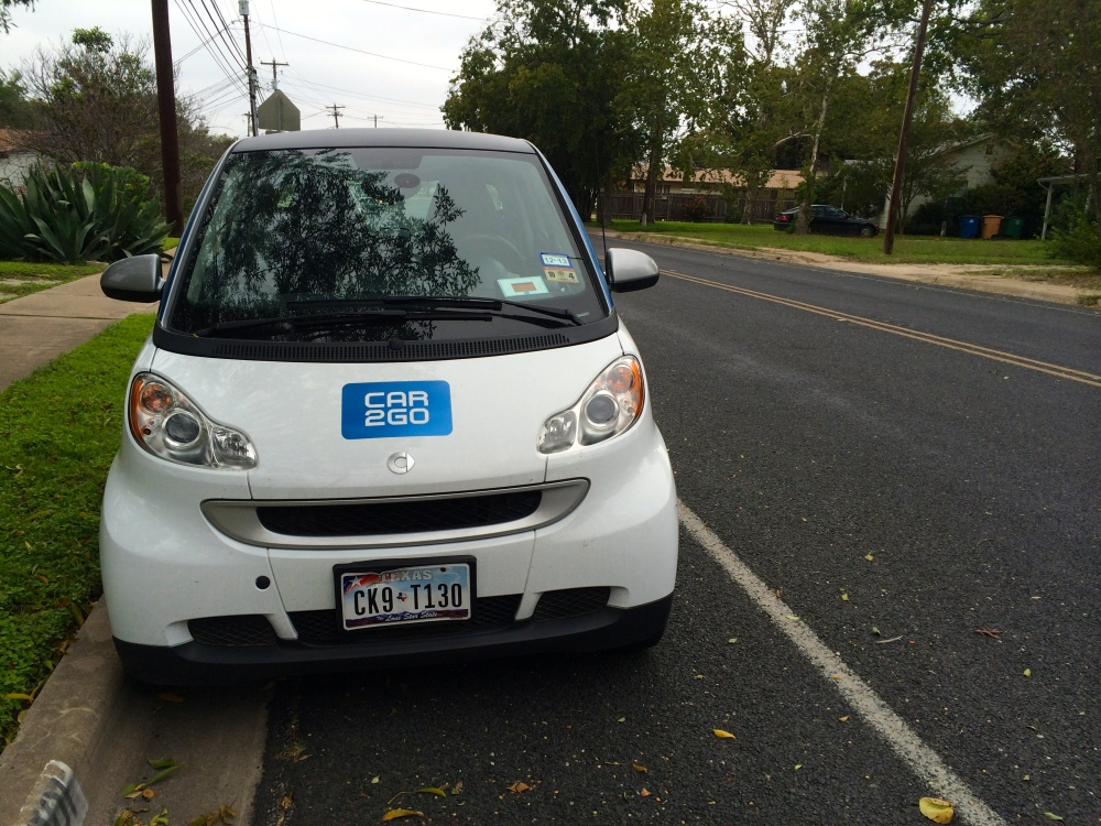 Car2Go on Justin Lane