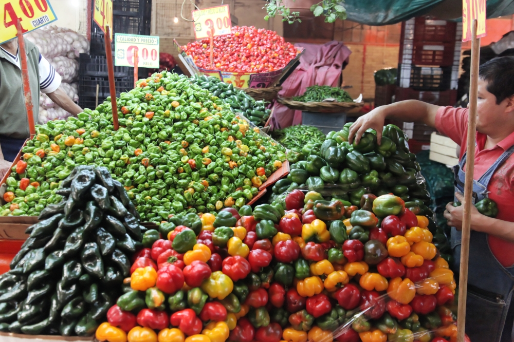 Mexico City Market Peppers
